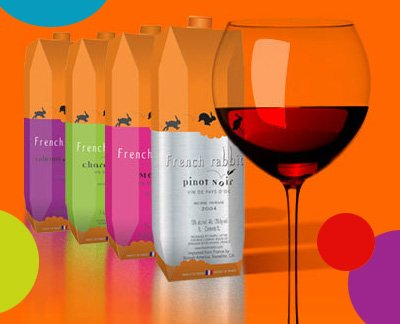 French rabbit wines - French wine in TetraPak containers - Pinot Noir, Chardonnay :  rabbit french noir french rabbit wine