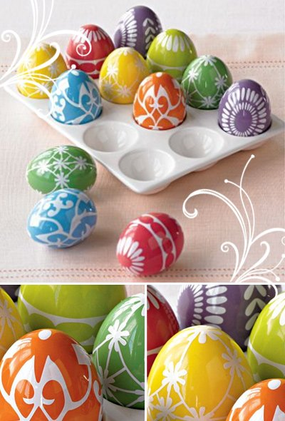 Bright Easter Eggs from Red Envelope