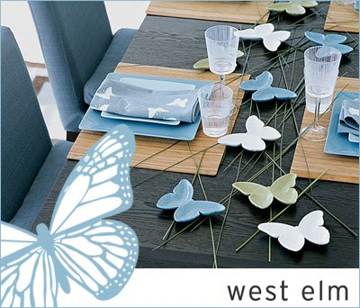 West Elm Butterfly Dishes