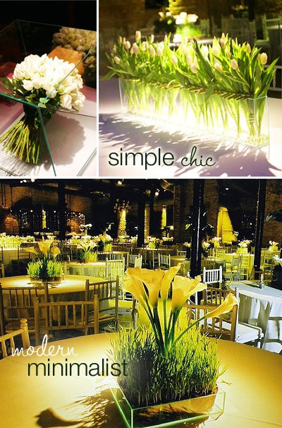 Simple Chic Centerpieces