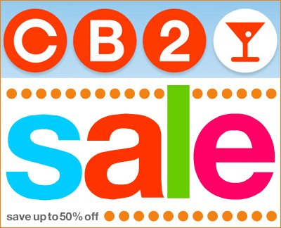 cb2 june sale