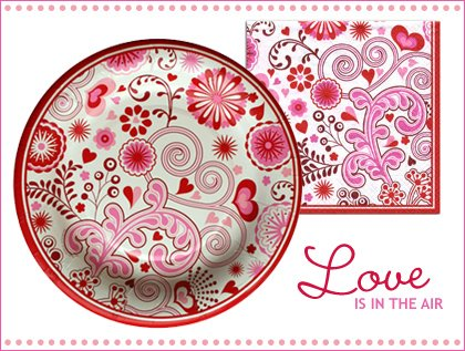 valentines day partyware