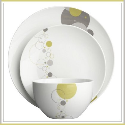 cb2 bubbles dinnerware