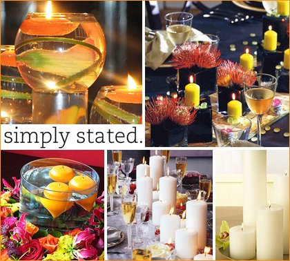 candle centerpiece ideas for weddings and parties