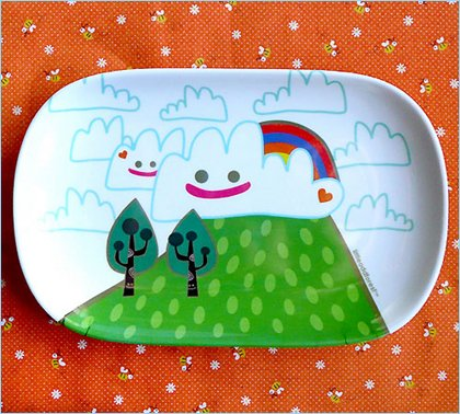 little odd forest lovely day plate
