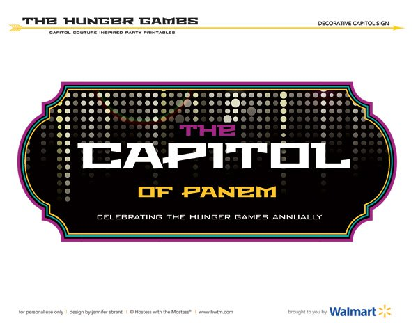Hunger Games Free Printables - Capitol Sign