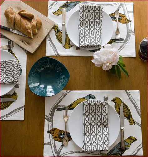 Cherry and East - DwellStudio tableware