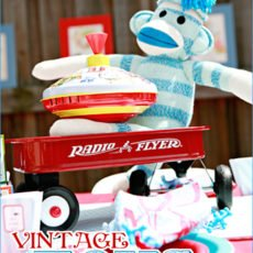 vintage toy birthday party ideas