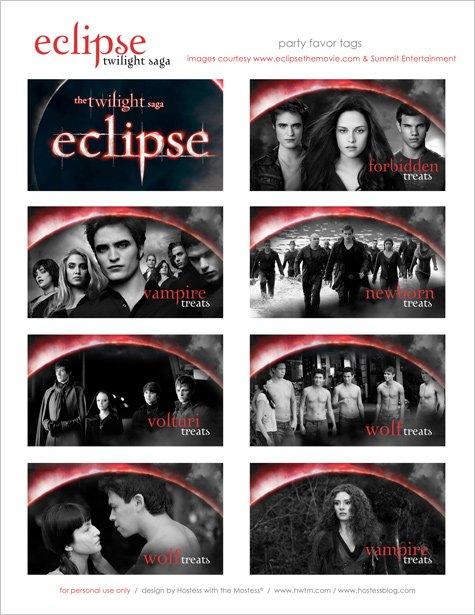 twilight eclipse party favor ideas