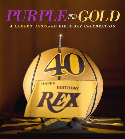 LA Lakers Birthday Party Theme