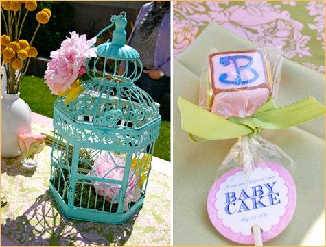 whimsical bird baby shower theme
