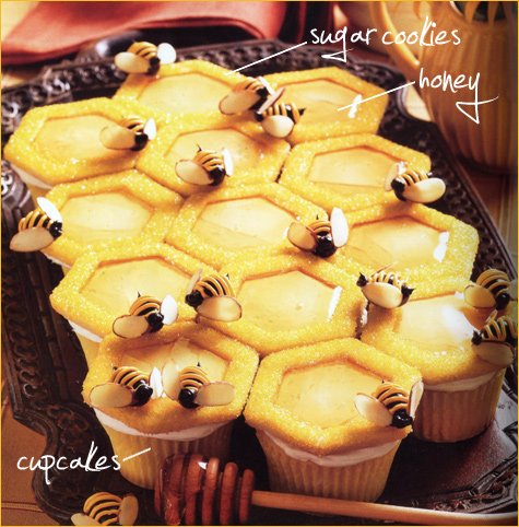Bee Themed Party Cupcakes