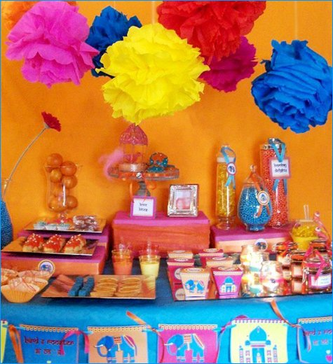 Bollywood Bling Aniversary Party Ideas