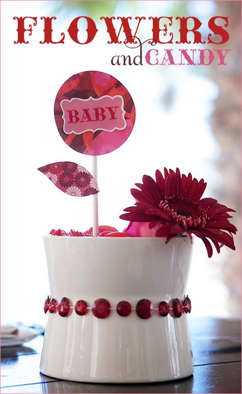 Diy easy flowers candy centerpiece hostess with the