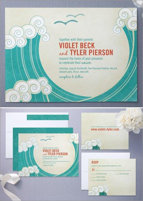 designer wedding invitations by minted