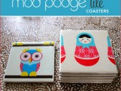 DIY Mod Podge Tile Coaster Tutorial