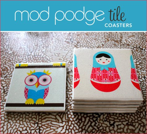 Diy Tutorial Mod Podge Tile Coasters Hostess With The Mostess
