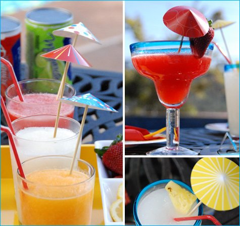 4th of july cocktail drink parasols
