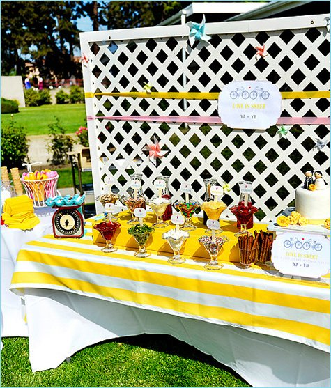 ice cream buffet wedding ideas