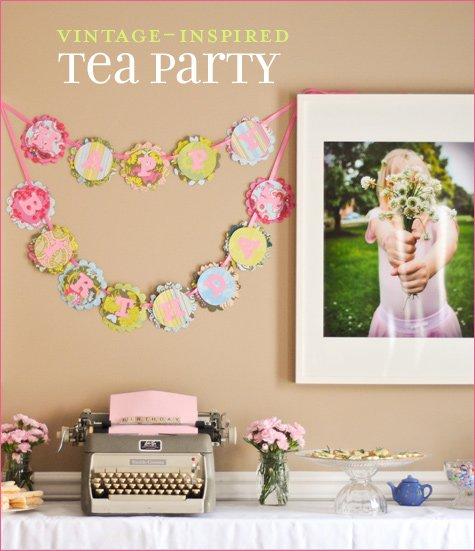 Vintage Tea Party Birthday Ideas