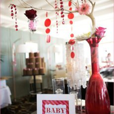 manzanita centerpiece baby showers