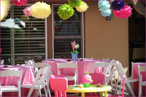 garden themed birthday party ideas