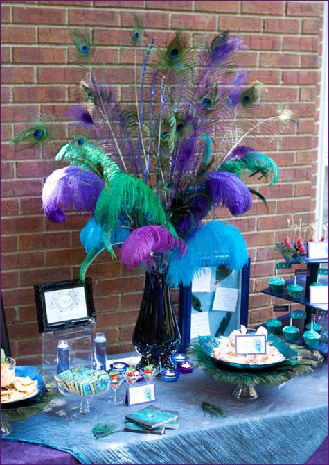 Real Parties Pretty Peacock Themed Engagement Party Hostess With The Mostess