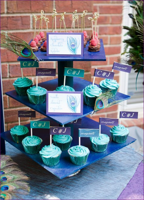 engagement party peacock theme