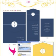 Pocket Style Wedding Invitations by MagnetStreet