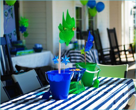 modern pool birthday party ideas