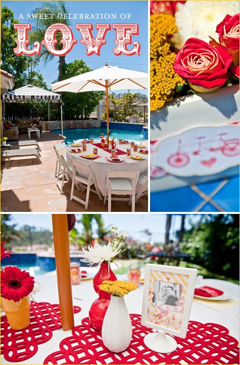 sunshine and love bridal shower ideas