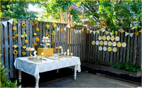 Sunshine Theme Birthday Party Ideas