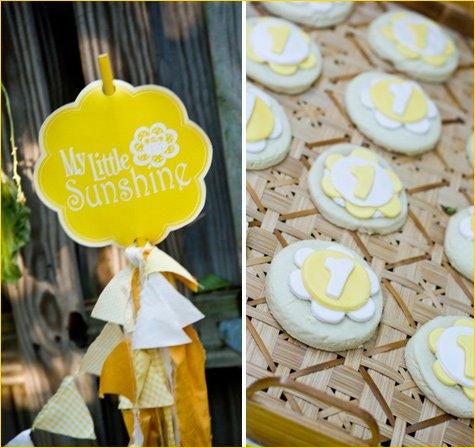 Sunshine Theme Birthday Party Ideas