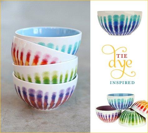 tiedye kitchen bowls