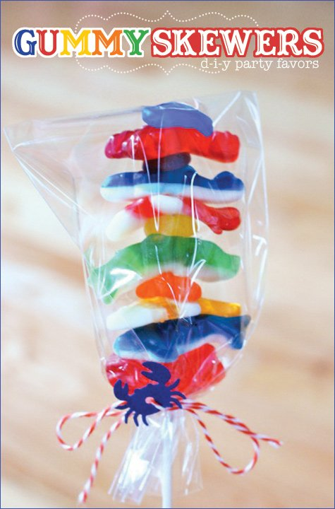 gummy fish candy skewer party favors