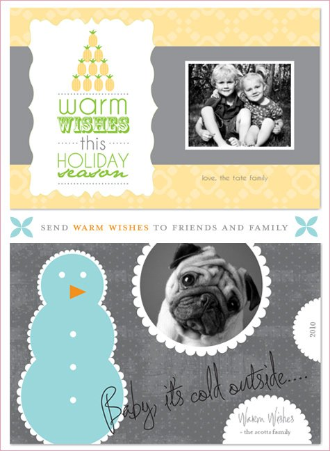 modern holiday card designs