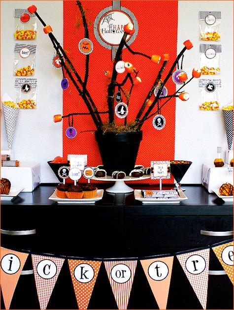 halloween party dessert table ideas
