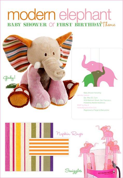 Modern Elephant Baby Shower Ideas