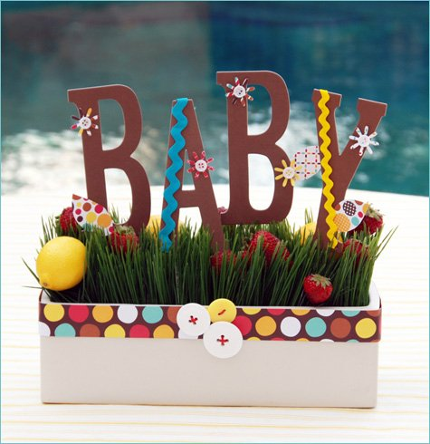 Modern Garden Baby Shower Ideas