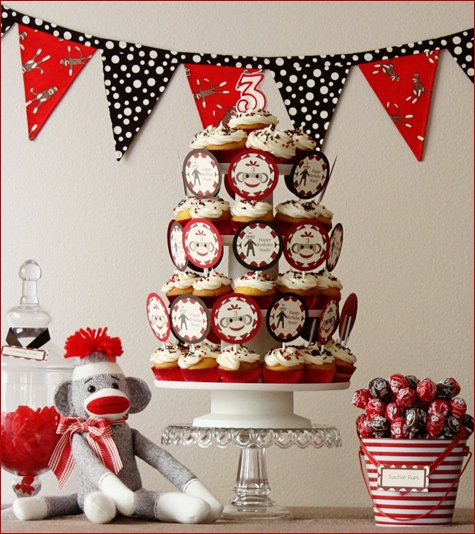 Sock Monkey Birthday Party Ideas