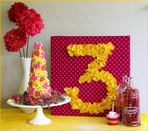 DIY Tissue Paper Birthday Sign Tutorial