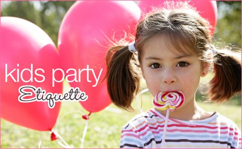 kids party etiquette and gifting