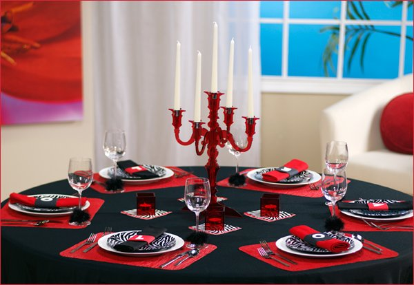 contemporary dinner party