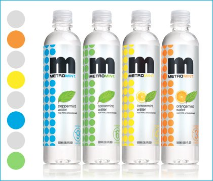 MetroMint bottled water