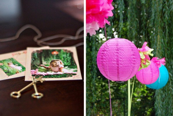 alice in wonderland paper lanterns and invitations