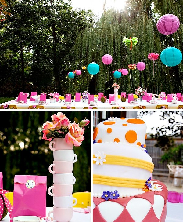 Alice in wonderland inspired birthday party hostess for Alice in wonderland birthday decoration ideas