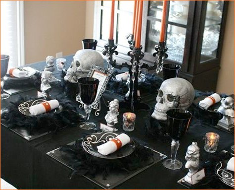 gothic glam halloween party decorations