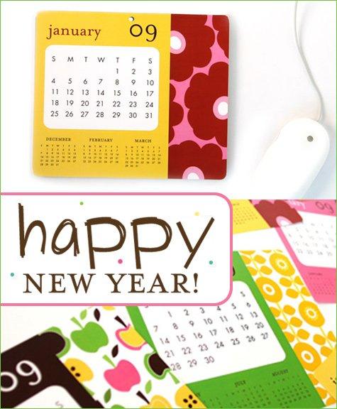 Ann Kelle mousepad calendar