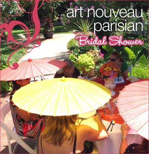 art nouveau parisian bridal shower