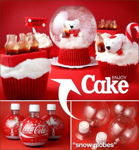 bakerella coke snow globe cupcakes